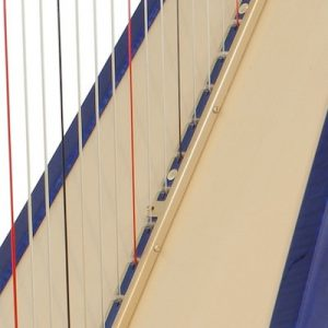 Blue harp piezo close-up