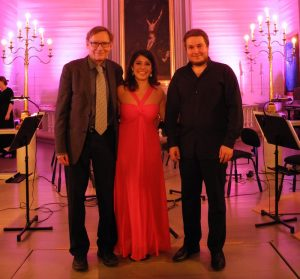 Kalevi Aho, Anneleen Lenearts, Erkki Lasonpalo. Photo: St. Michel Strings