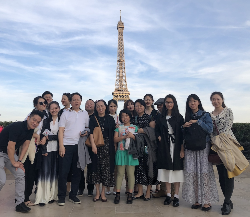 Chinese tour of France 2019: Paris