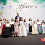 Competition winners at Harpfest VI with Jakez François