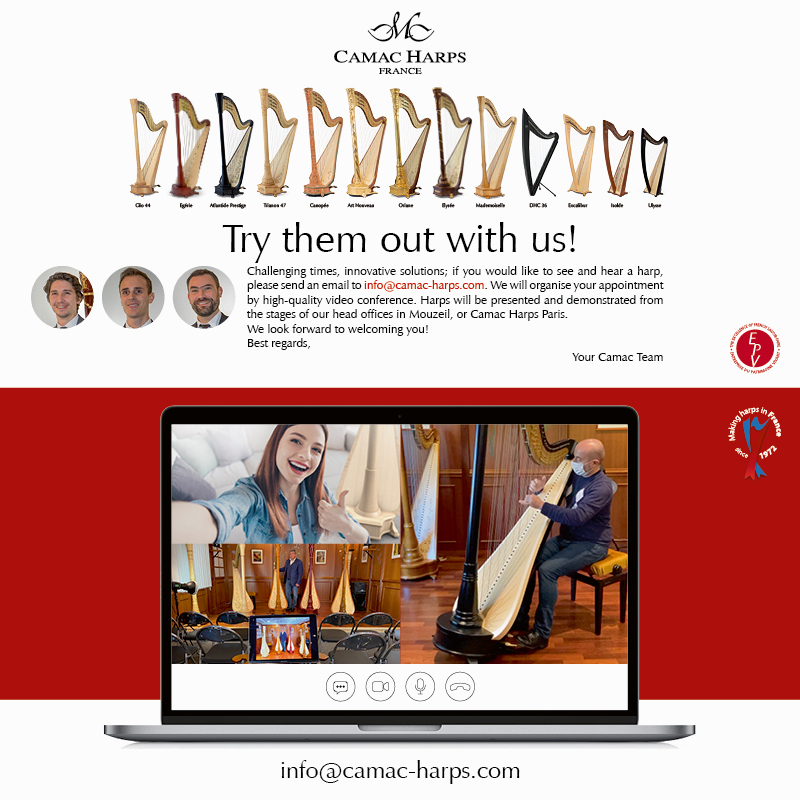 Try them out with us! Harp demo videoconferences